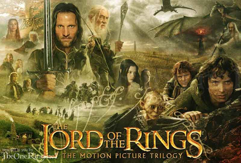 plakat z serialu the lord of the rings online